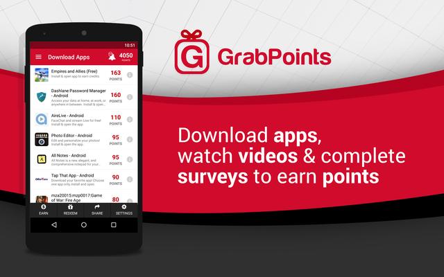 GrabPoints Guadagna ILLIMITATAMENTE con il tuo SMARTPHONE!