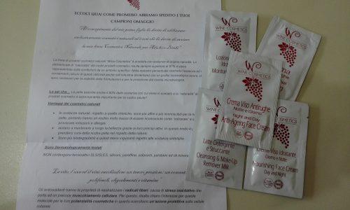 CAmpioni ricevuti da WineCosmetics