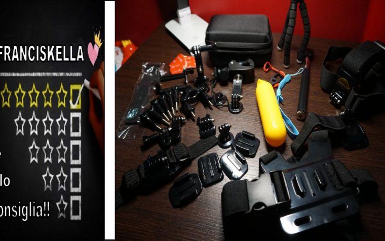 UNBOXING KIT accessori Action cam Iextreme adatto per GOPRO, XIAOMI, SJ, HERO session