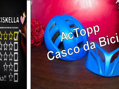 AcTopp Casco da Bici da Corsa Helmet Casco da Bicicletta Casco MTB Leggero con Visiera Removibile Materiale EPS