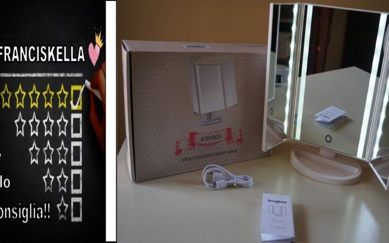 UNBOXING e primo utilizzo || Specchio per il Trucco a Tre Ante Jerrybox