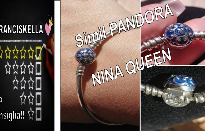 NinaQueen Bracciale da donna argento sterling 925 per Charms Bead – Blu (19cm)