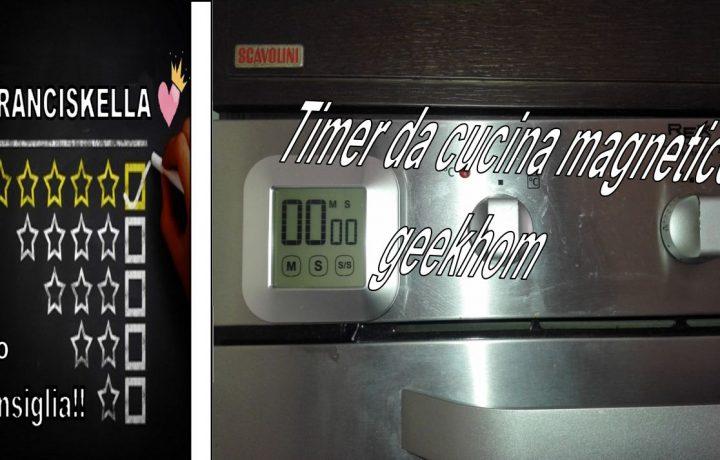 Mai più pasta scotta grazie al Timer da cucina magnetico, geekhom digitale touch screen