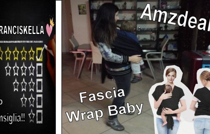 Amzdeal Fascia Wrap Baby per neonati e bambini in cotone
