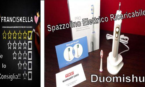 Spazzolino Elettrico Ricaricabile  Duomishu